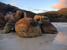 Wilsons Prom Granite boulders on Squeaky Beach