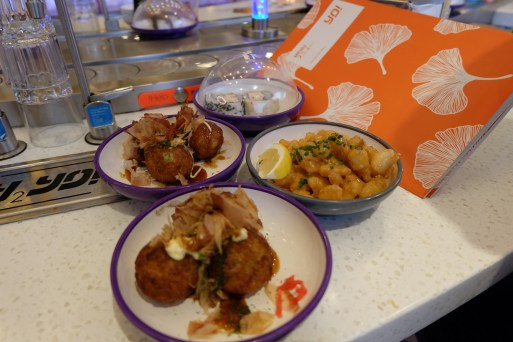 Takoyaki and Popcorn Shrimp!!!!