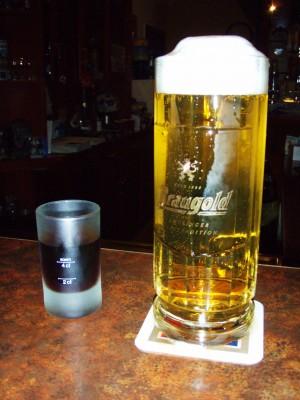 Ahh, en øl og en Jeger forlenger livet!