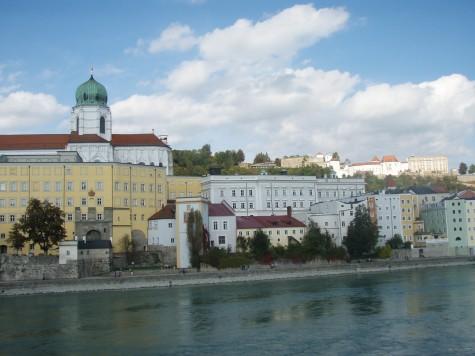 Mange fine bygninger i Passau.