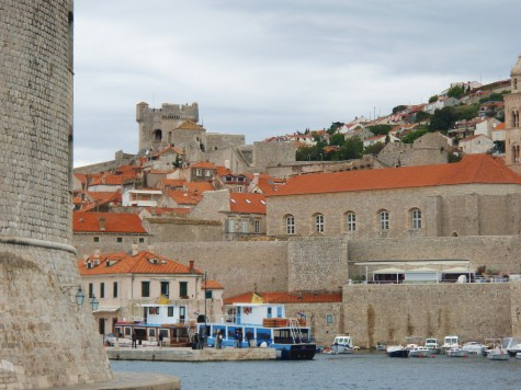 Ved havna i gamlebyen i Dubrovnik!