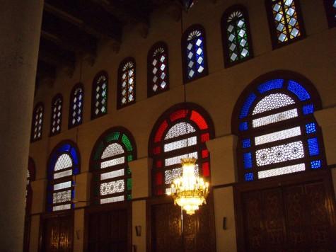 Vakkert inne i moskeen!