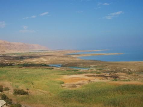Svært tørt og varmt rundt Dødehavet og umulig å sykle her om sommeren!