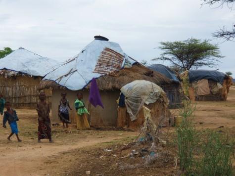 Dårlig boligstandard i Etiopia, da det er en utbredt fattigdom her.