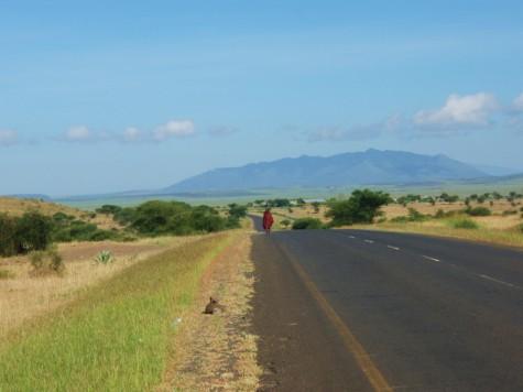 Flott vær og landskap ut fra Arusha!