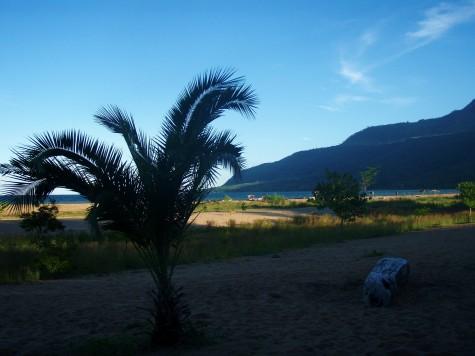 Det var flott på Chitimba beach ved Malawisjøen!