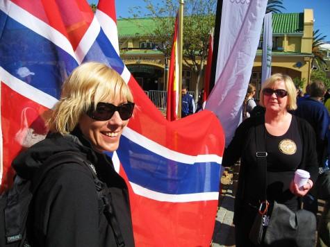 Den norske velkomstkomiteen, Kristin og Sigrid!
