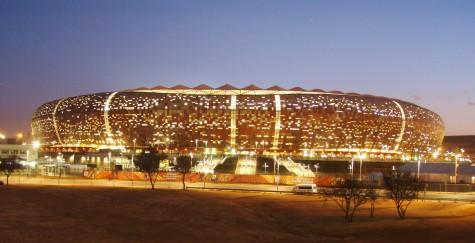 Soccer City 3 timer før finalen i FIFA World Cup 2010!