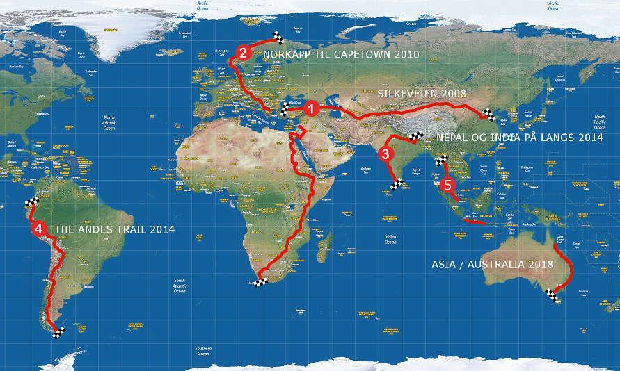Sykkeleventyr på to hjul i verden