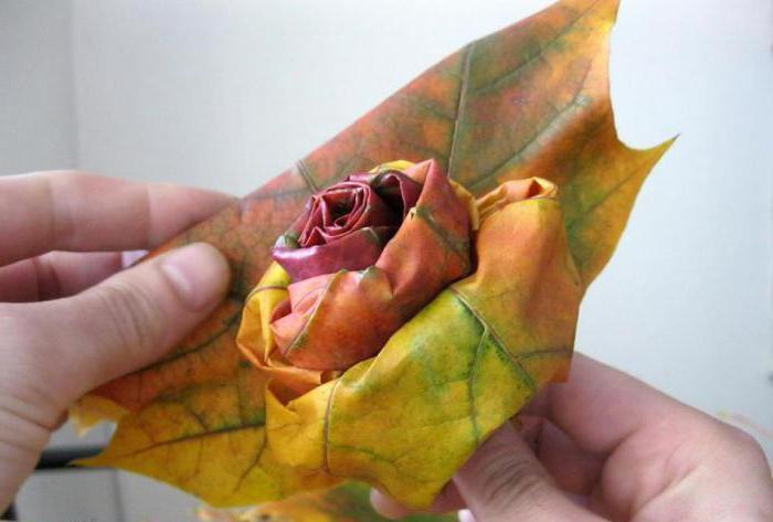 2149485 Как сделать цветы из листьев руками. Розы из кленовых листьев своими руками пошагово