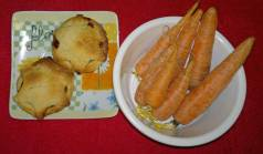 mince pie and carrots