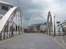 Our first view of Wembly Stadium designed by Norman Foster.