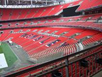 We had a fascinating tour around the stadium with a funny, knowledgeable guide.