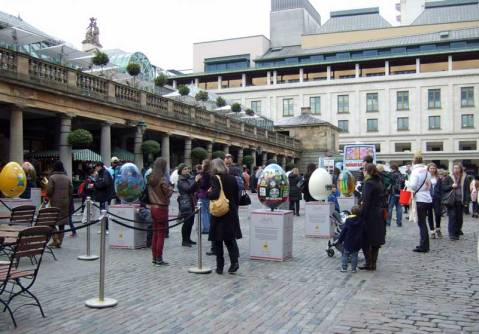 We joined in the Easter Egg Hunt at Covent Garden.