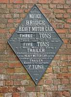 Old canal bridge sign