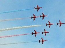 The Patrouille de France at Duxford Air Show.