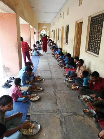 GIFT MEALS IN BLIND SCHOOL UDAIPUR