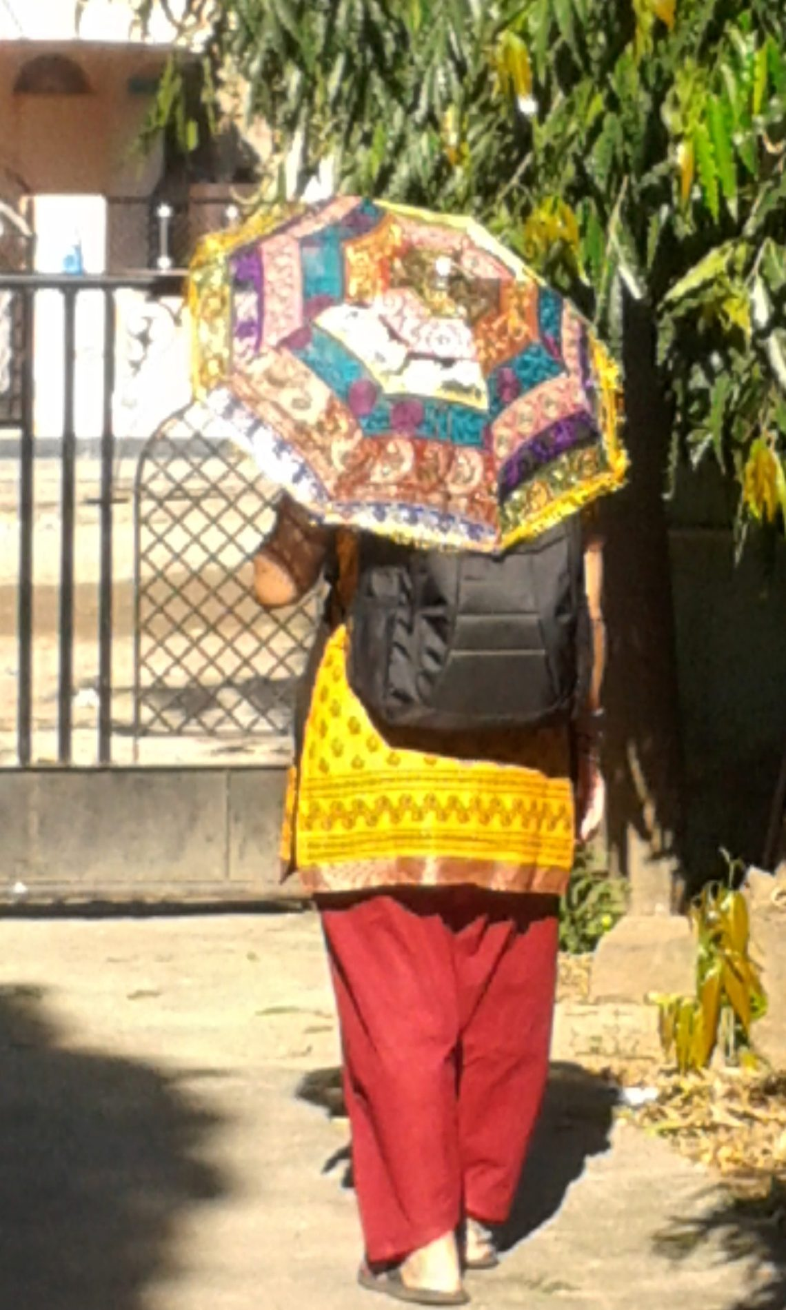 3 Km by feet every morning to go to mohini school