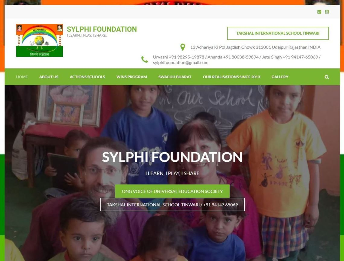 SEPTEMBER 2018 NEW WEBSITE FOR SYLPHI FOUNDATION AND NGO VOUES