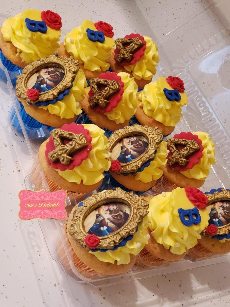 Beauty & Beast cupcakes