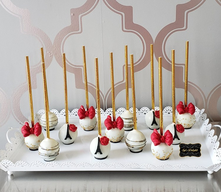 Paris Red Cakepops
