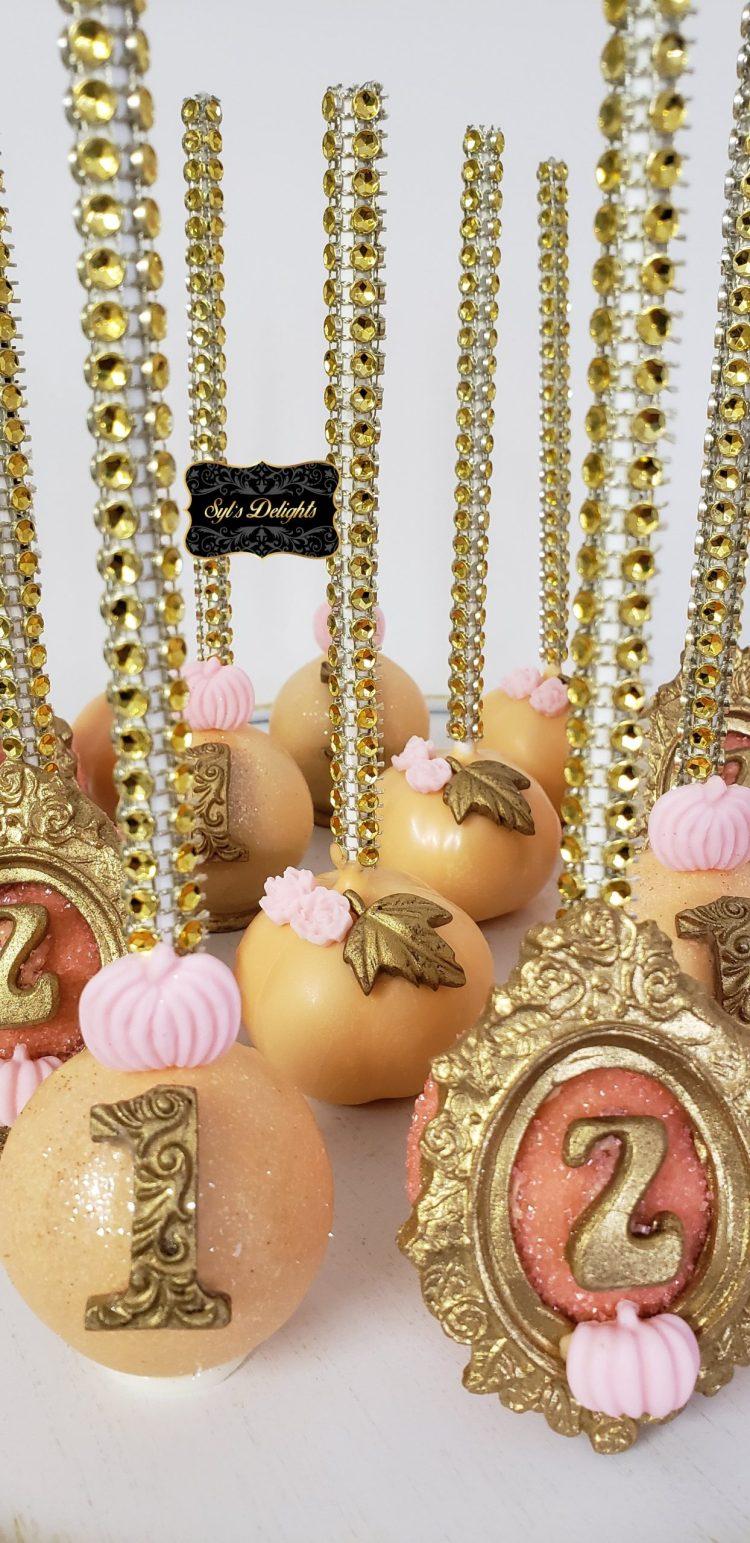 Cute pumpkin Cakepops