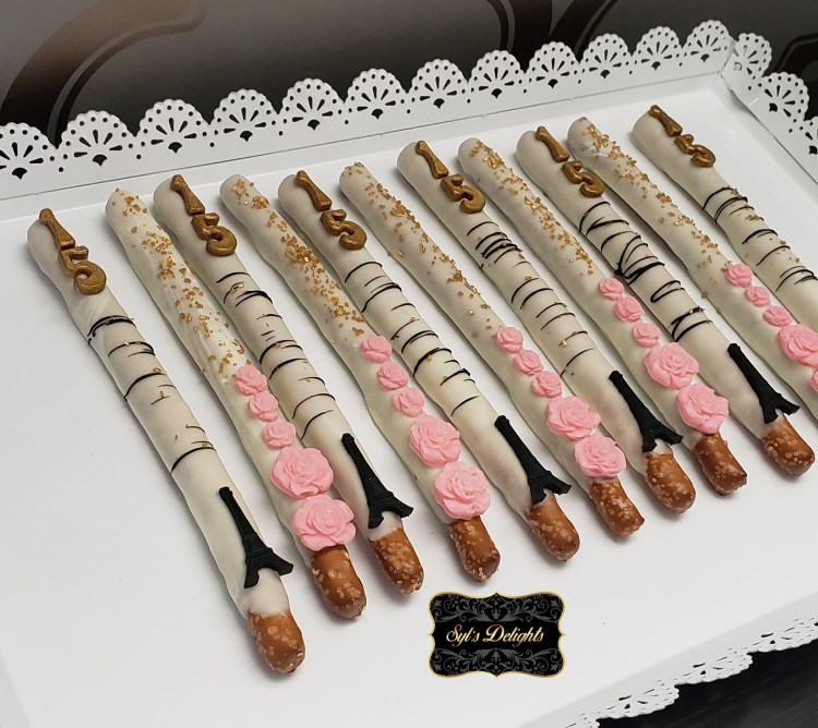 Paris theme Pretzel sticks