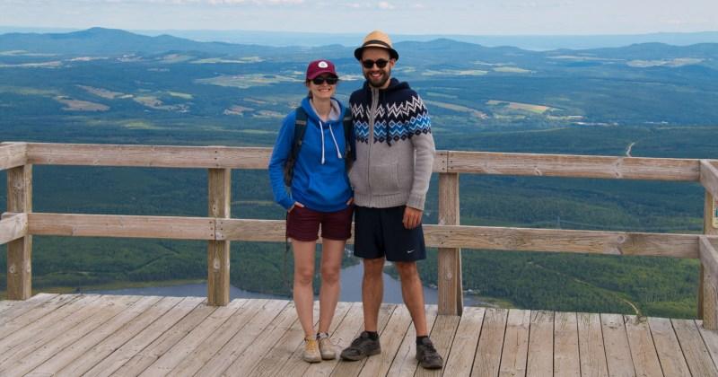 Au sommet du Mont du Lac des Cygnes.