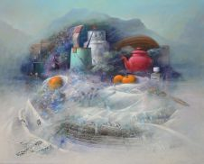 """""""Gamelles de hautes montagnes"""" huile 84 x 66"""