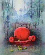 """""""Le passage"""" huile 65 x 54"""