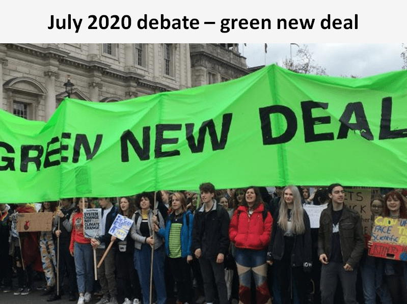 The Sylvan green new deal debate concluded that a 'Green New Deal' is required to re-start the British economy post the pandemic.