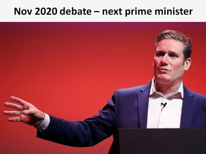 The Sylvan next prime minister debate will consider whether Sir Keir Starmer is the best person to be the country's next leader.