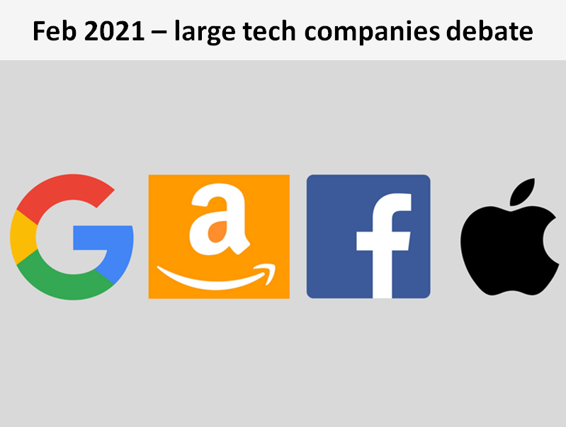 In this large tech companies debate, the Sylvans considered if they should be regulated or broken up, and preffered the regulation option.