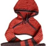 Hooded Shrug: red