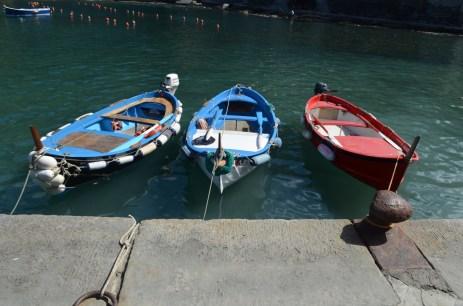 Boote in Vernazza