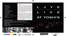 """Booklet - Page 1, """"LJYE Live at Yoshi's"""""""