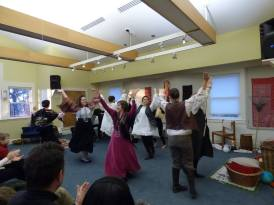 Interactive concert about Bela Bartok, Winchester Community Music School, spring 2015. Written by Lois Shapiro, adapted and directed by Adriana Ausch. Re-creation of a Hungarian village in Nichols Hall.
