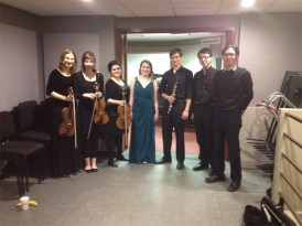 Alexandra Whitfield's graduating student recital, Bach cantata ensemble. April 2014