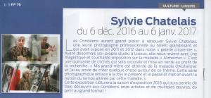 Sylvie Création Photo Châtelais Photographe exposition presse 5 condé info decembre 2016 001