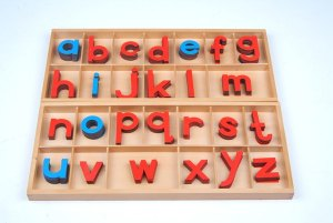 The Montessori movable alphabet