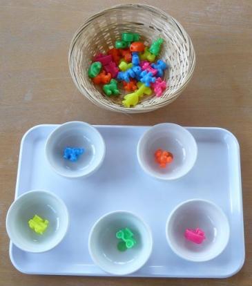 Exercices de tri Montessori