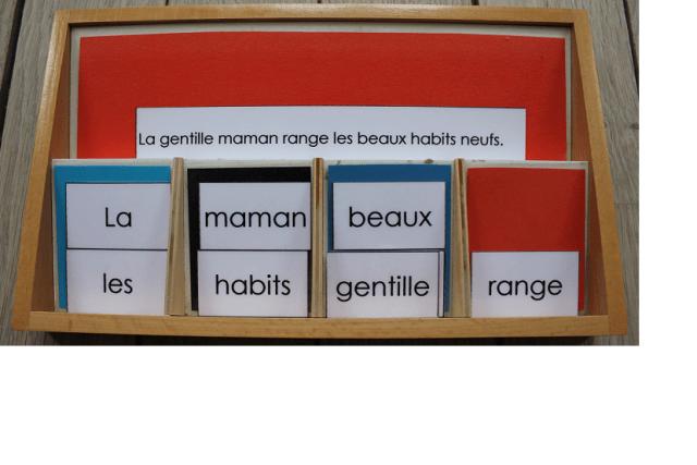 Les boîtes de grammaire.