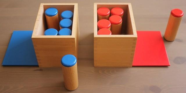 Si le son ne correspond pas, mettre le cylindre à côté de la boîte.