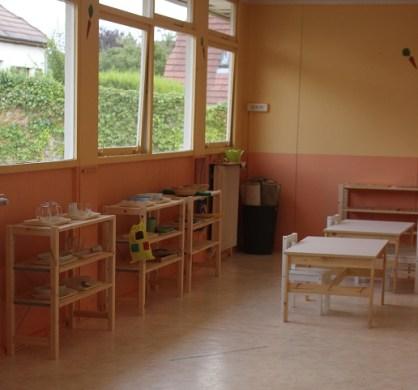 La classe de maternelle anglaise.