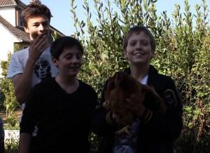 La joie d'accueillir nos poules.