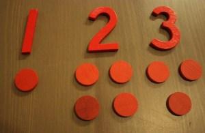 Montessori chiffres et jetons