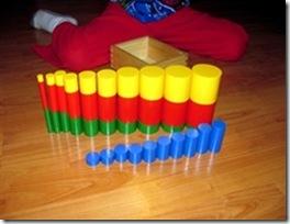 Montessori cylindres de couleur.