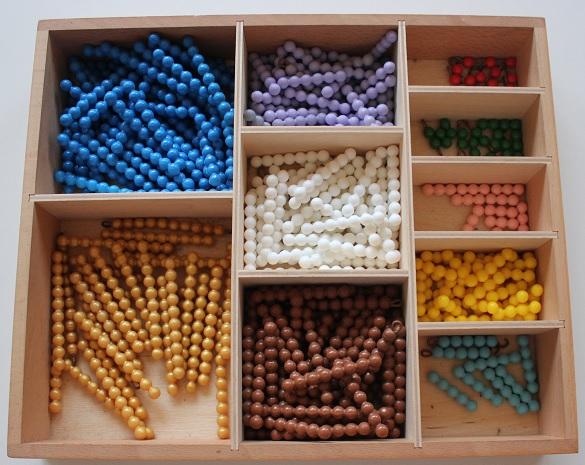 Montessori barrettes de perles