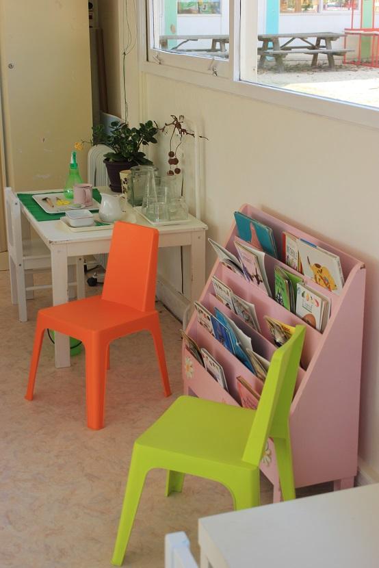 Le coin bibliothèque pour la maternelle française.