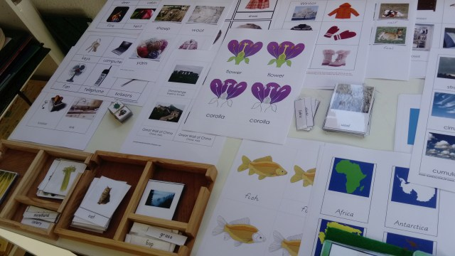 Montessori vocabulaire